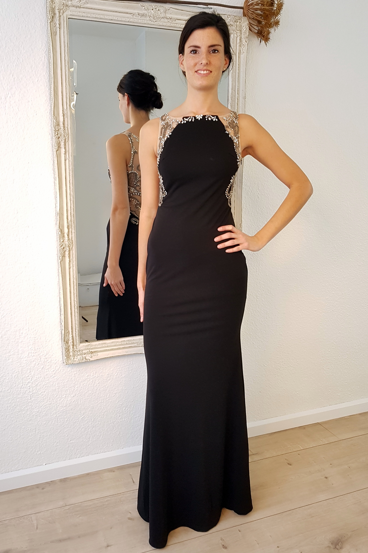 Gala jurk lang zwart